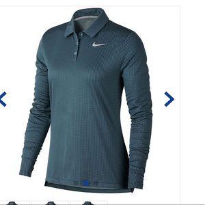NWT NIKE long sleeve golf polo small